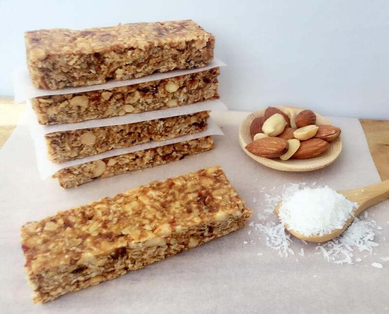 Chewy-Coconut-Bars quick and easy no bake sweet treats